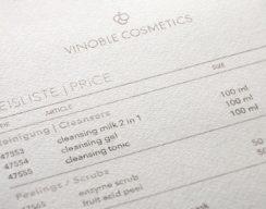 Vinoble Cosmetics_Preisliste